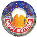 "HAPPY BIRTHDAY BEER BALLOON  18""  15056-18"